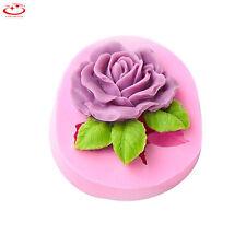 Big Rose Flower Silicone Soap Mold Cake Chocolate Decorating Baking Fondant Mold