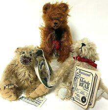 "5"" Mohair Jointed Teddy Bear Lot Of 3 - Oh Josh Effenbee Hermann & Boyds"