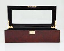 Wolf Designs Savoy 5 Piece Watch Box Storage Chest Organizer Case Burlwood
