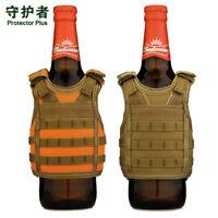 Tiger Winter Camo Short Fur Drink Cooler collapsible slap coozie koozie bottle