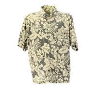 Herren Hawaii Hemd Größe XL Freizeit Shirt Palmen Muster Kurzarm Retro Vintage