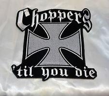 Patch écusson dorsal Croix de Malte Choppers , Bikers,custom,gothique