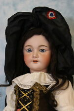 "Antique 27"" French Bisque Doll SFBJ 301 Paris 12 Orig. Alsace, Lorraine Costume"