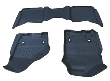 Laser Scanned 3D Floor Mat Injection Molded Liner Set 09-18 Dodge Ram Crew Cab