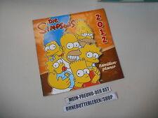 Sammel Kalender The Simpsons 2012 Familien-Planer PANINI / BONGO Matt Groening