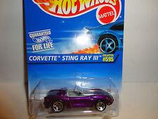 Hot Wheels #595 Purple Corvette Stingray III w/5 Spoke Wheels