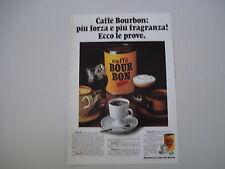 advertising Pubblicità 1973 CAFFE' BOUR BON