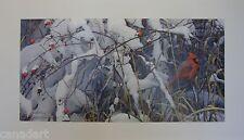Robert BATEMAN print FRESH SNOW Cardinal LTD art ARTIST PROOF mint