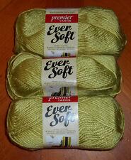 Premier Ever Soft Yarn Lot Of 3 Skeins (Clover #70-23) 3 oz.