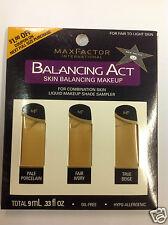 Max Factor Balancing Act Liquid Makeup Shade Sampler FOR FAIR TO LIGHT SKIN.