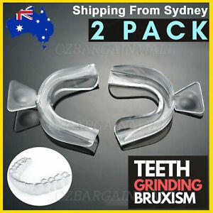 2X NEW Dental Mouth Guard Bruxism Splint Night Teeth Tooth Grinding Sleep Aid