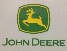Vintage John Deere Logo Green & Yellow Mini Iron On Transfer! Super Rare