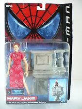 Spiderman Mary Jane Action Figure Marvel Comics w Wall Mount Breakaway Balcony