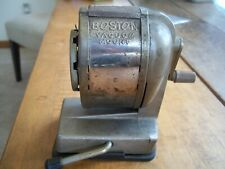 VINTAGE BOSTON PENCIL SHARPENER - VACUUM MOUNT - 8 HOLE- WORKS GREAT!