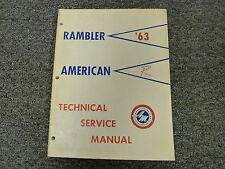 1963 Rambler American Shop Service Repair Manual Convertible Hardtop Sedan Wagon