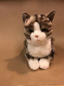 Faithful Friends FTAB03 Tabby Cat Grey Stripe Sitting