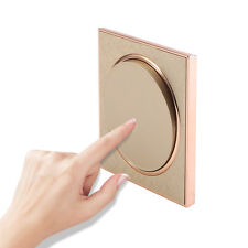 Universal Light 1 Gang 1 Way Touch Screen LED Wall Lamp Switch Home Decor Gold