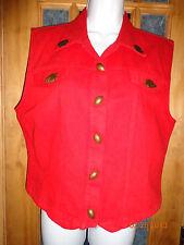 The Brass Menagerie Museum Kansas City Arrowhead Chiefs Red Football Vest Large