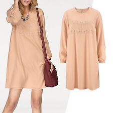 genial Kleid CASUAL ABEND Büro Gr.44/46 Rosé Nude Puder Marken ALLROUNDER Tunika
