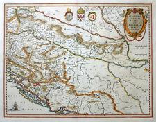 SCLAVONIA CROATIA BOSNIA DALMATIAE KROATIEN BOSNIEN MERCATOR BLAEU 1640