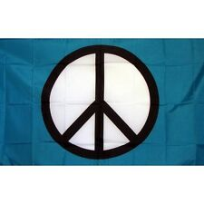Peace Symbol Flag Banner Sign 3' x 5' Foot Polyester Grommets Standard