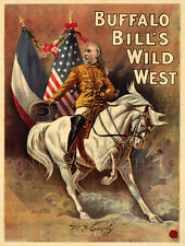 BUFFALO BILL,1903 Vintage Wild West Show Poster Giclee Canvas Print 22x29