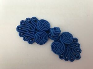 Frog Closures Swirl with Beads Chinese Knot Button x 2 pairs *DIFFERENT COLOURS*