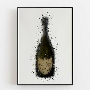 P0075 | Champagne Bottle | Wall Art Print | Poster | Liquor | Bar | Restaurant