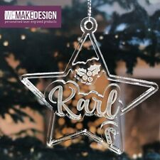Personalised Acrylic Christmas Tree Decoration Bauble