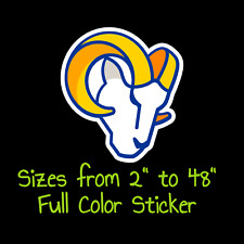 Los Angeles Rams Full Color Vinyl Decal   Hydroflask decal   Cornhole decal 3