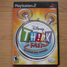 PS2 - Disney Think Fast Trivia Game - PlayStation 2 game, complete - game only.