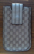 GUCCI gold leather GG MONOGRAM LOGO Phone Case