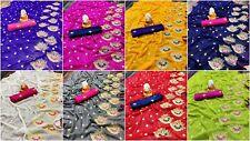 Embroidery Work Saree Blouse Heavy Saree For Wedding Indian Bollywood Sari NP