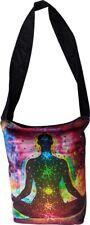 Rainbow Chakra Across Body/Shoulder Strap Black Yoga Bag NEW
