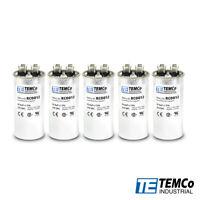 TEMCo 35 uf/MFD 370 VAC volts Round Run Capacitor 50/60 Hz -Lot-5