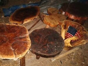 Handcrafted walnut , oak , mulberry (usa flag, glass top)one of kind Tables