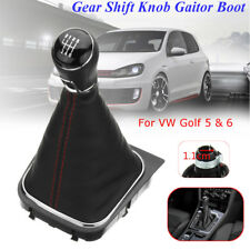6 Speed Car Gear Shift Knob Lever & PU Leather Boot Gaitor Cover For VW Golf 5 6
