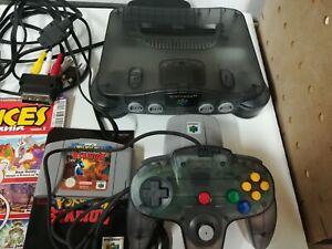 Console N64 noir Grise Transparente manette jeux Nintendo