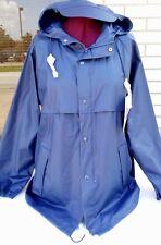 NWT MISTY HARBOR Mens Navy Waterproof Lightweight Hoodie Full Zip Jacket M