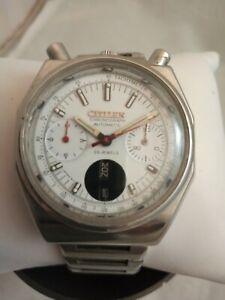 RARE CITIZEN BULL HEAD   Vintage Chronograph  Automatic Men Japan Wrist Watch.