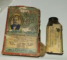 Antique Vintage Dr Daniels Colic Drops Veterinary Advertising Box And Bottle For