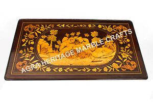 4'x2' Marble Dining Hallway Table Top Handmade Inlay Arts Patio Decorative H4892