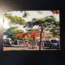 NEW CALEDONIA CARD MAXIMUM FLOWERS N°316/317/318 + AQUARIUM NOUMEA N°323