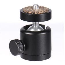 """Mini Metal 360 Degree Swivel Ballhead Camera Tripod Holder 1/4"""" Screw"""