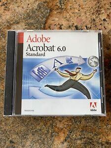 Adobe Acrobat 6.0 Standard Sealed w/ Serial Number for Windows PC