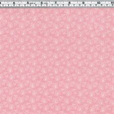 Cream LEAF on pink Fabric - FQ
