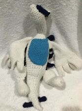 "Pokemon Plush Handmade Crocheted RESHIRAM White Blue Dragon 20"" UNIQUE"