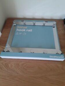 NEW ! KOROS, DOUBLE HOOK RAIL, BATHROOM, TOWELS, ROBES ~ CHROME PLATED STEEL !