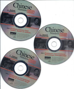 Instant Immersion Chinese Mandarin crash course (3 CDs set)