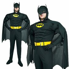 Adults Batman Muscle Chest Dark Knight Mens Halloween Fancy Dress Costume Outfit